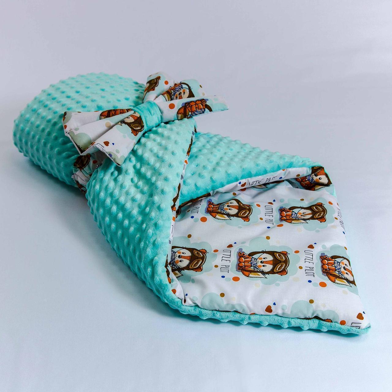 Демисезонный плюшевый конверт - одеяло Лисенок   78 х 85 см