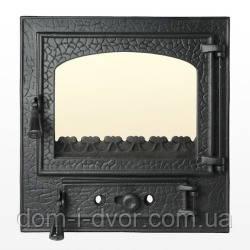Каминная дверь Рустикальная 390 х 410 мм для барбекю печи