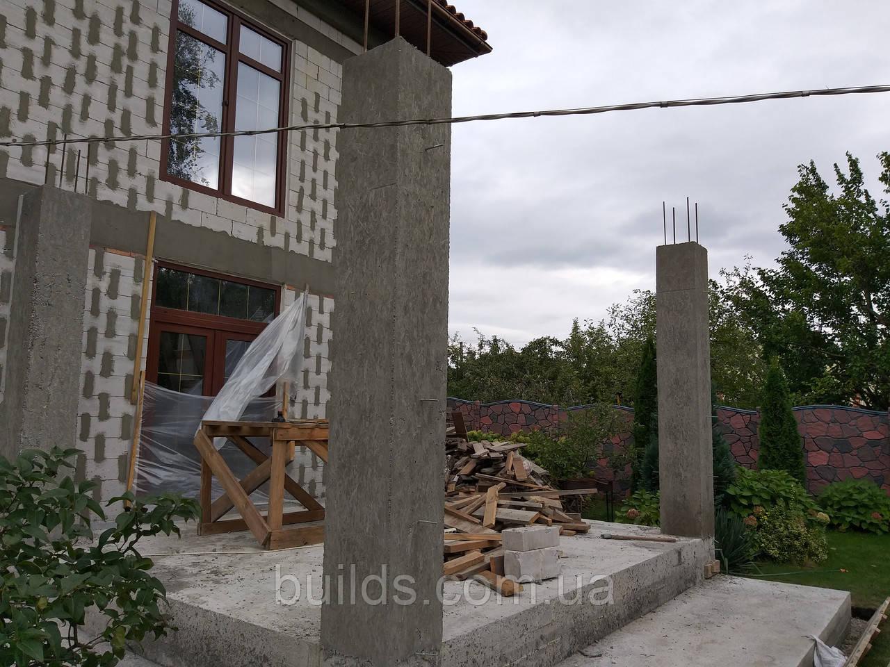 Заливка бетонных колон
