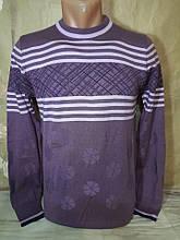 Чоловічий тоненький бузковий светр Falcon & Rock молодіжна модель