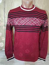 Чоловічий тоненький бордовий светр Falcon & Rock молодіжна модель