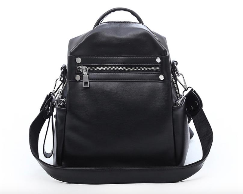 Рюкзак женский трансформер сумка кожзам Сomfort Черный
