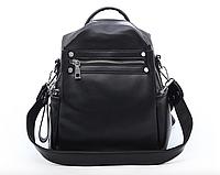 Рюкзак женский трансформер сумка кожзам Сomfort Черный , фото 1