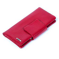 Женский кошелек клатч Butun 638-004-006 кожаный красный