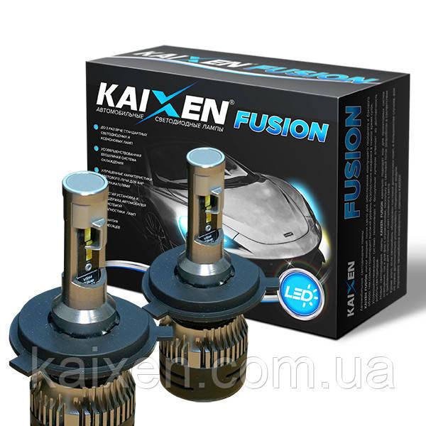 Светодиодные лампы H4 6000K Kaixen Fusion