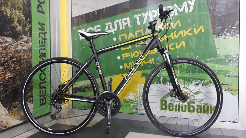 "Велосипед Ghost 28"" Cross 1800 2013 рама  RH53 black/lime 13CR0020"