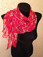 Молодежный легкий шарф(Углы по косой) (цв 3)