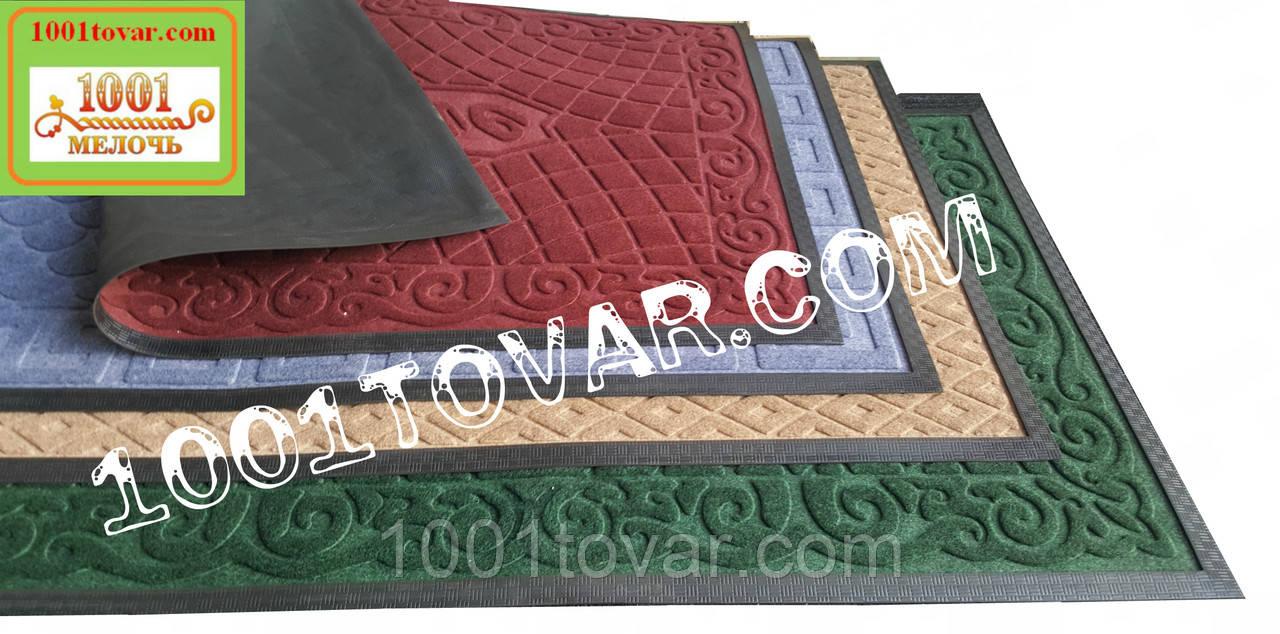Придверні килимок решіток ворсистий з гумовим кантом 120х80 див.
