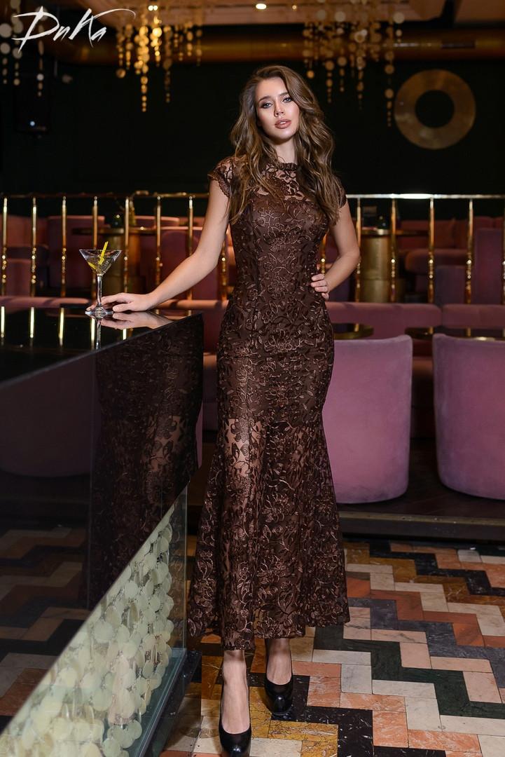 Женское длинное платье ДГд41217