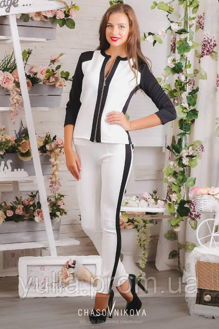 fdfc925a6c79 Женский костюм Дарья бело чёрный  продажа, цена в Одессе. от