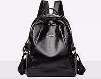 Рюкзак женский кожзам городской Love черный