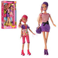 Кукла DEFA 8130 Прогулка на роликах Куклы 30см и 22см