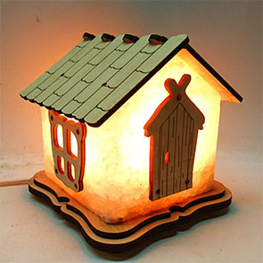 Соляной светильник домик