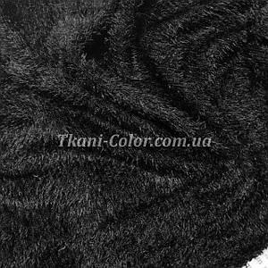 Трикотаж травка черный D-01