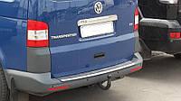 Накладка на задний бампера Volkswagen Transporter T5 2003-2009 с загибом и с надписью
