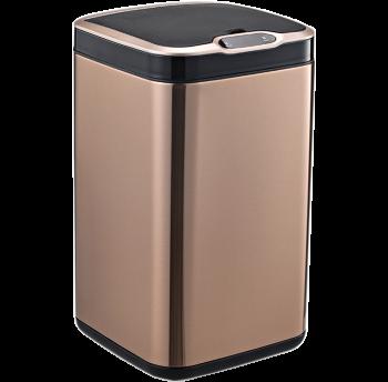Сенсорная корзина для мусора с внутренним ведром, 13 литров квадратная