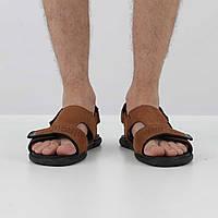 Нубуковые коричневые сандалии (лето), 41 размер, код UT83256