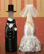 Шампанское свадебное Жених и невеста
