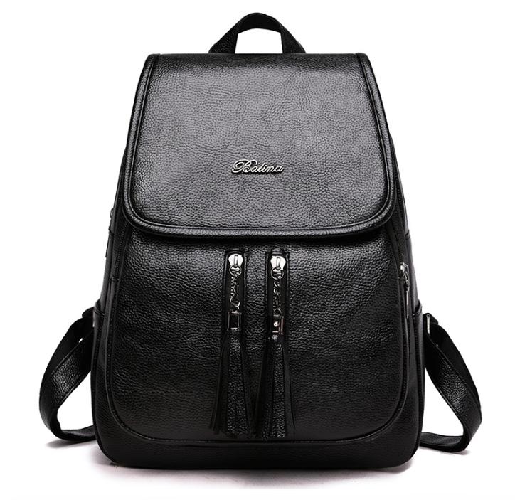 02a6394d3cb7 Рюкзак женский кожзам Balina c кисточками черный - Интернет-магазин