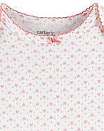 Кофта флисовая + Штаны флисовые + Боди Carters для новорожденной девочки 46-55 см. Костюм 3-ка, фото 2