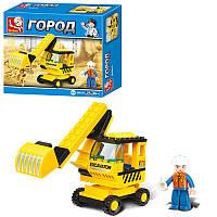КОНСТРУКТОР SLUBAN M38-B0176, Строительная техника Экскаватор , игра, игрушка для детей
