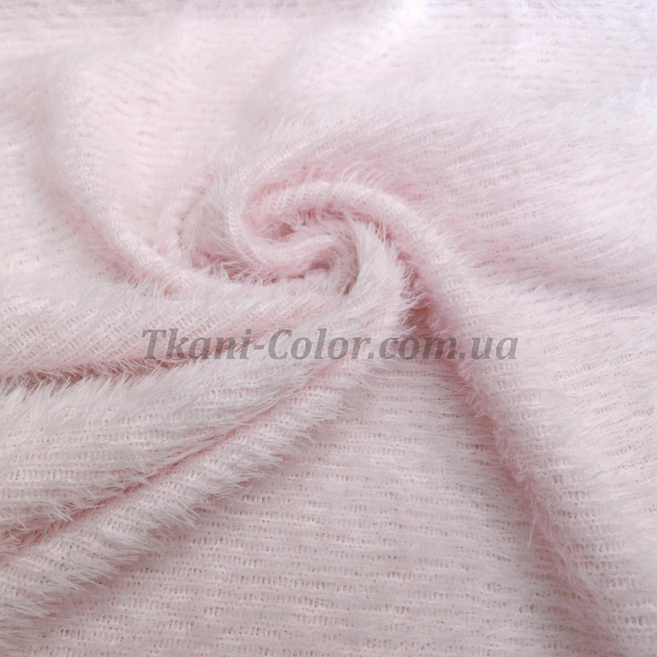Трикотаж травичка світло-рожевий D-01