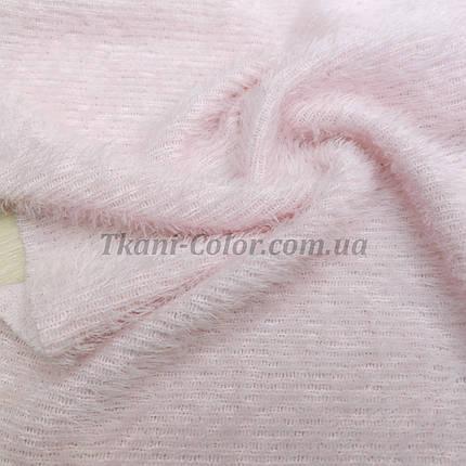 Трикотаж травичка світло-рожевий D-01, фото 2
