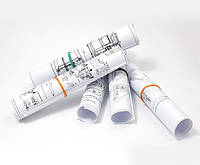 Печать цветных чертежей формата А1 (офсетная бумага 150 г/м2, заполнение до 10%)