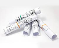 Печать цветных чертежей с заливками формата А1 (офсетная бумага 150 г/м2, заполнение 10-25%)