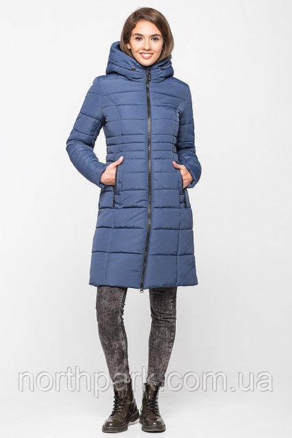 Довга зимова куртка VS 190, блакитна, розмір 46