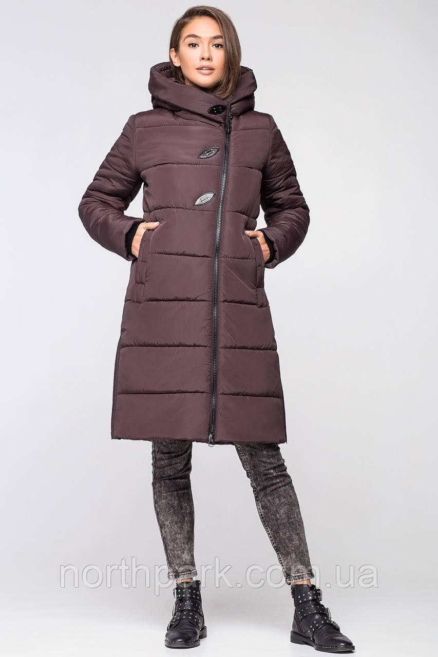 Довга зимова куртка VS 191, шоколад 52