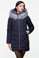 Довга зимова куртка VS Z-148, темно-синя