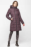 Довга зимова куртка VS 190, шоколад, розмір 46, фото 4