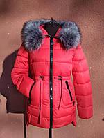 Яскрава молодіжна куртка-парка Garoff, червона, розміри L, XL
