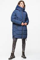 Довга зимова куртка VS 185, блакитна, фото 1
