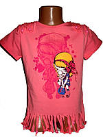 Летние футболки для девочки оптом  Baby Tom
