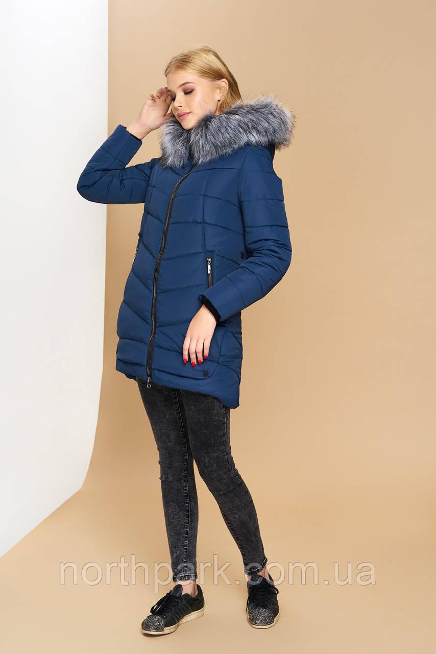 Довга зимова куртка VS Z-148, синя, розмір 50