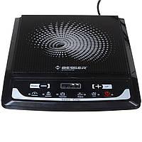 Одноконфорочная индукционная настольная электроплита BESSER 2000 Ват 8 режимов (80-240*) 25*25см