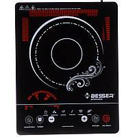 Инфракрасная электроплита настольная BESSER 2000 Ват (10249) Стеклокерамическая из таймером отключения
