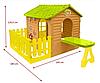 Детский домик с террасой и столиком Mochtoys, фото 4
