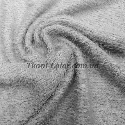 Трикотаж травичка світло-сірий D-01, фото 2
