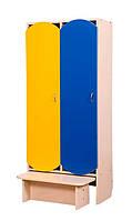 Шкаф детский с лавкой 2-секции (81302)