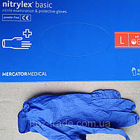 Перчатки Нитриловые  Nitrylex basic L 8-9, фото 1