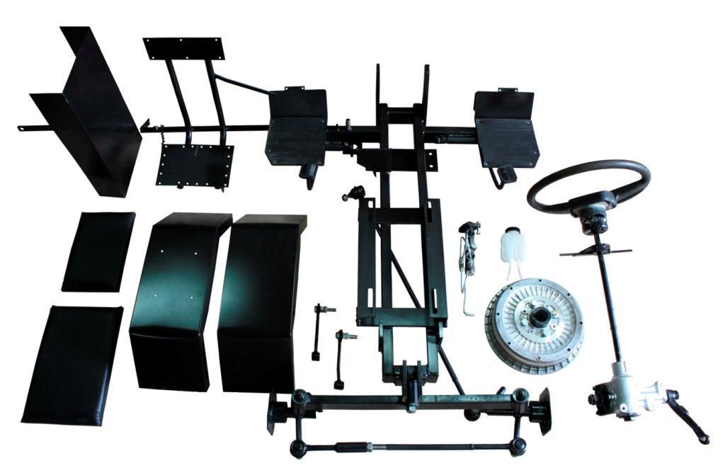 Комплект для переоборудования мотоблока в мототрактор №4 (механическая тормозная система) (КТ25) | КІТ набір №4 (довгий) (мех. гальма) 5б.