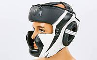 Шлем боксерский с полной защитой PU VENUM CHALLENGER BO-7041-W