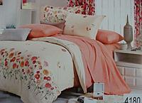 Сатиновое постельное белье полуторка ELWAY 4180