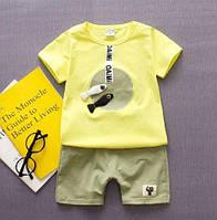 Костюм для хлопчиків літній жовтий з зеленим 9ea5ace941016