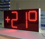 Електронні великі годинник з термометром 1300х620, фото 4