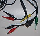 Кабель щупы крокодилы крючки провода для лабораторного блока питания штекер банан, фото 3