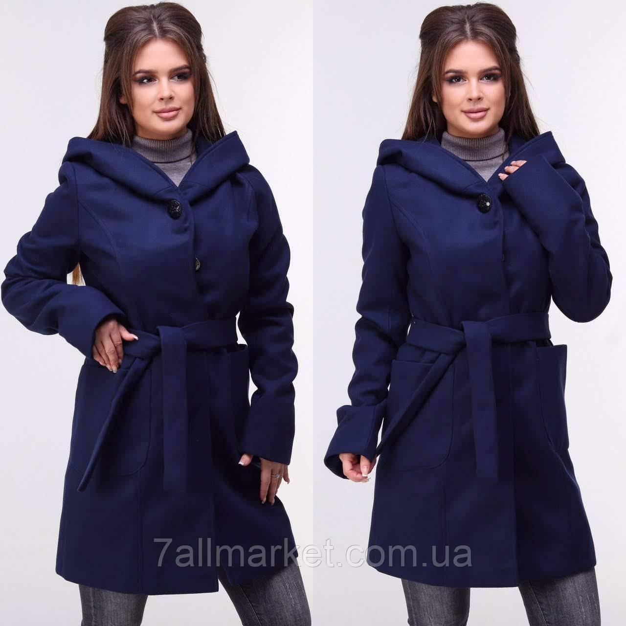 5e7a6fd5a02 Пальто женское кашемировое с капюшоном